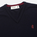 Мужской свитер Pringle of Scotland Contrast V Knit Navy фото- 1