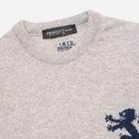 Pringle of Scotland Lion Intarsia Round Neck Men's Sweater Grey photo- 1