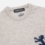 Мужской свитер Pringle of Scotland Lion Intarsia Round Neck Grey фото- 1