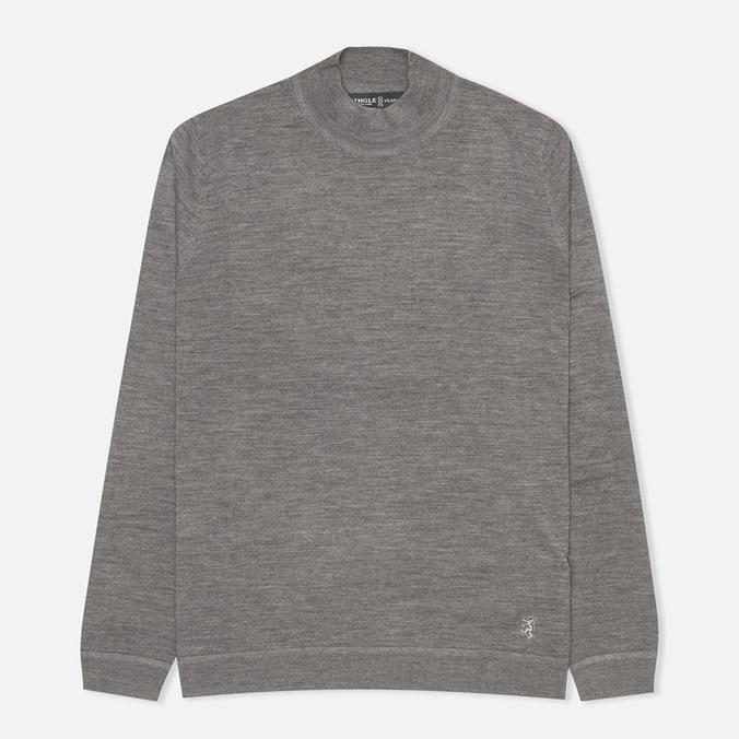 Pringle of Scotland Mock Reverse Men's Sweater Oxford Grey