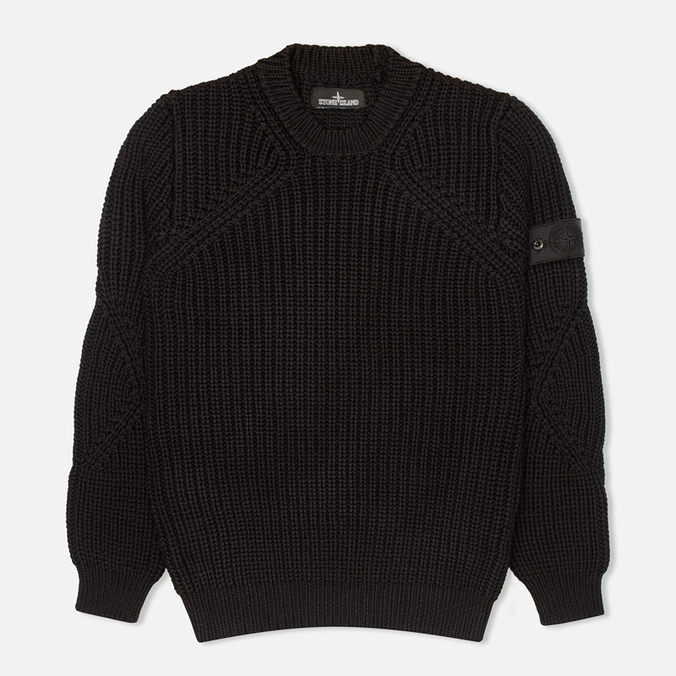 Мужской свитер Stone Island Shadow Project Crewneck Nyco Black