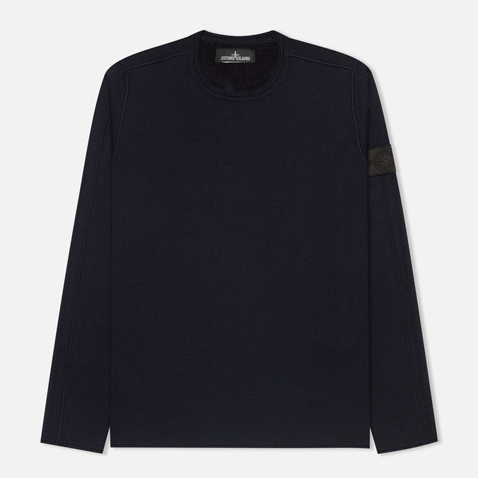 Мужской свитер Stone Island Shadow Project Knitwear Double Face Navy Blue