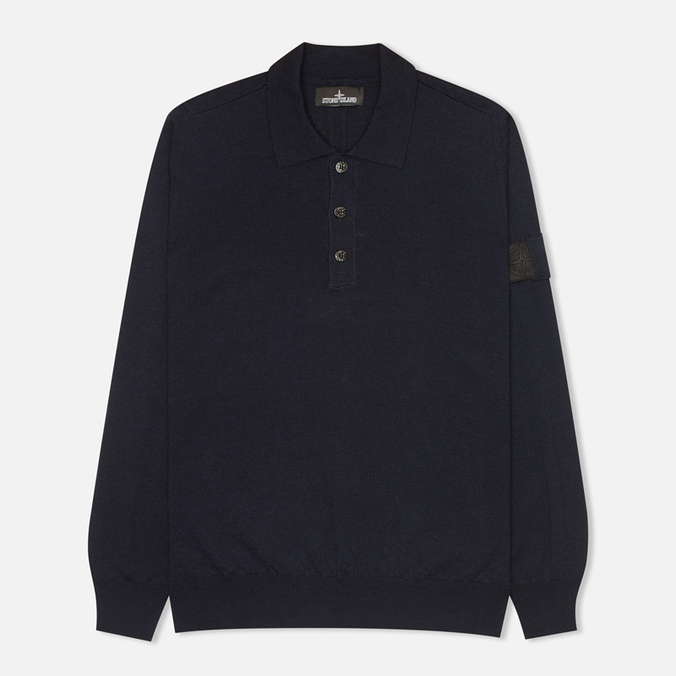 Мужской свитер Stone Island Shadow Project Knitwear Pull Navy Blue