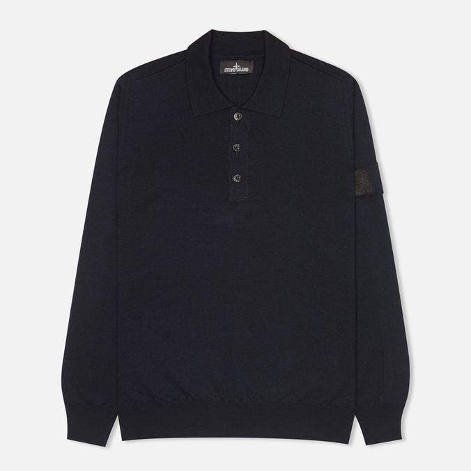 Мужской свитер Stone Island Shadow Project Knitwear Pull Navy Blue