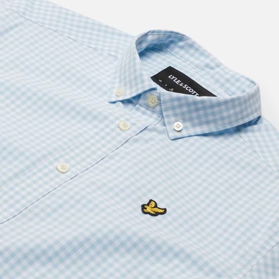 Мужская рубашка Lyle & Scott Gingham Short Sleeve Deck Blue/White