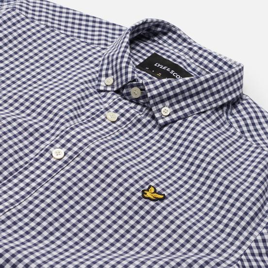 Мужская рубашка Lyle & Scott Gingham Short Sleeve Navy/White