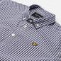 Мужская рубашка Lyle & Scott Gingham Short Sleeve Navy/White фото - 1