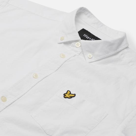 Мужская рубашка Lyle & Scott Light Weight Slub Oxford Short Sleeve White