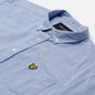Мужская рубашка Lyle & Scott Light Weight Slub Oxford Short Sleeve Riviera фото - 1