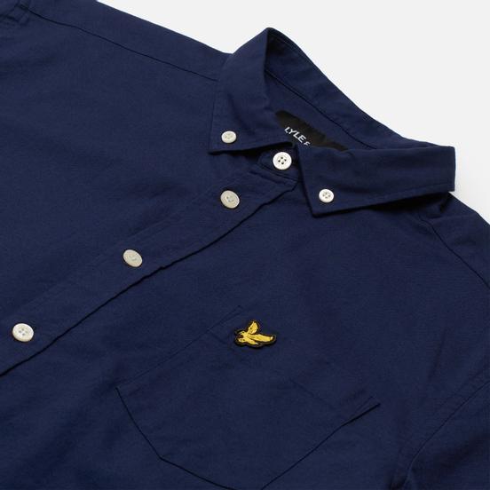 Мужская рубашка Lyle & Scott Light Weight Slub Oxford Short Sleeve Navy