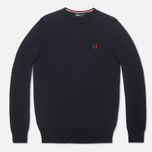 Мужской свитер Fred Perry Classic Tipped Crewneck Navy фото- 0