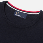 Мужской свитер Fred Perry Classic Tipped Crewneck Navy фото- 1