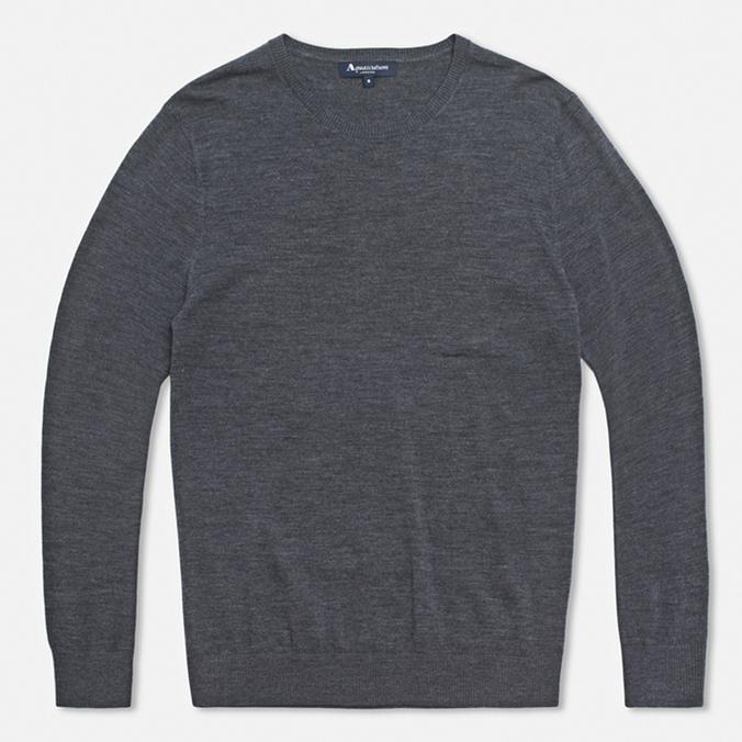 Мужской свитер Aquascutum Patch Crew Neck Grey