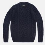 Мужской свитер Barbour Burl Crewneck Navy фото- 0