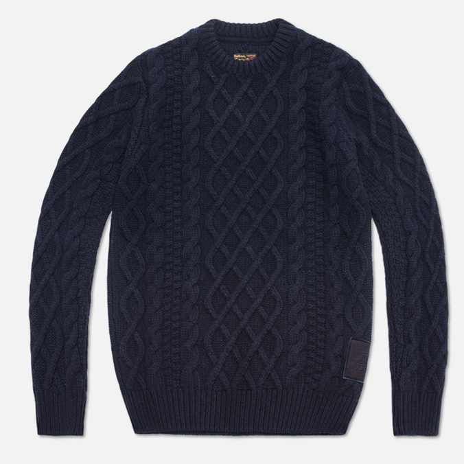Мужской свитер Barbour Burl Crewneck Navy