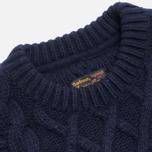 Мужской свитер Barbour Burl Crewneck Navy фото- 1