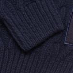 Мужской свитер Barbour Burl Crewneck Navy фото- 2