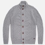 Мужской свитер Barbour Kirktown Cable Button Grey Marl фото- 0