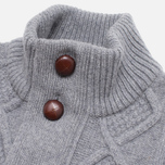 Мужской свитер Barbour Kirktown Cable Button Grey Marl фото- 1