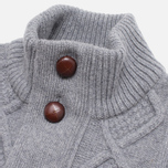 Barbour Kirktown Cable Button Sweater Grey Marl photo- 1