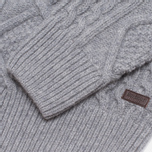 Barbour Kirktown Cable Button Sweater Grey Marl photo- 4