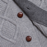 Мужской свитер Barbour Kirktown Cable Button Grey Marl фото- 2