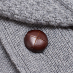 Barbour Kirktown Cable Button Sweater Grey Marl photo- 3
