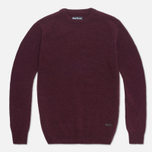 Barbour Patch Crew Sweater Merlot photo- 0