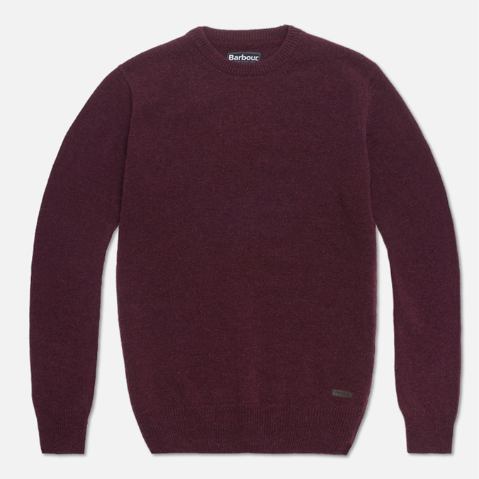 Barbour Patch Crew Sweater Merlot