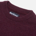 Barbour Patch Crew Sweater Merlot photo- 1