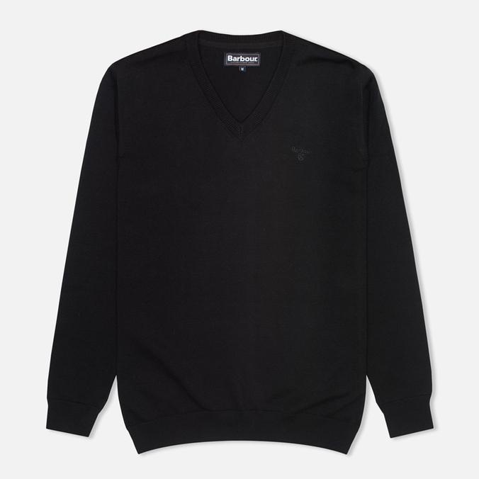 Мужской свитер Barbour Pima V Neck Black