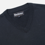 Barbour Pima V Neck Sweater Navy photo- 1