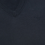 Barbour Pima V Neck Sweater Navy photo- 2