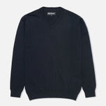Barbour Pima V Neck Sweater Navy photo- 0
