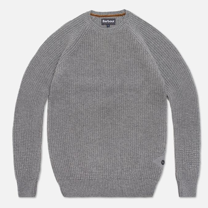 Barbour Riverton Sweater Concrete Marl