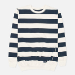 Bleu De Paname Marin Jersey Sweater Ecru/Bleu Nuit photo- 0