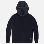 Мужской свитер C.P. Company Goggle Hooded Cardigan Navy фото- 0