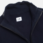 Мужской свитер C.P. Company Goggle Hooded Cardigan Navy фото- 4