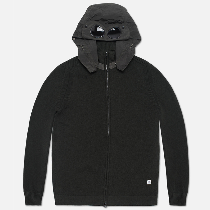 Мужской свитер C.P. Company Goggle Hooded Cardigan Olive