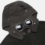 C.P. Company Goggle Hooded Cardigan Olive photo- 2