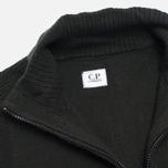 Мужской свитер C.P. Company Goggle Hooded Cardigan Olive фото- 4