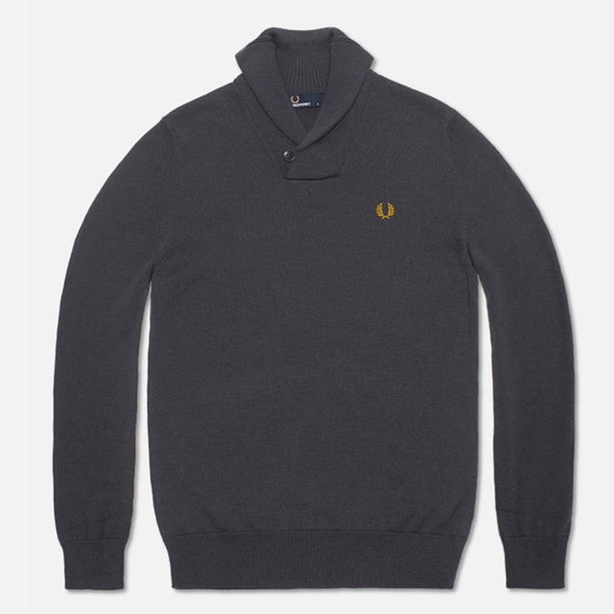 Fred Perry Classic Shawl Sweater Graphite Marl