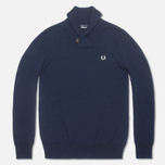 Мужской свитер Fred Perry Classic Shawl Navy Marl фото- 0