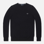 Мужской свитер Fred Perry Classic Tipped Crewneck Black фото- 0
