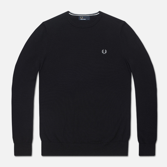 Мужской свитер Fred Perry Classic Tipped Crewneck Black