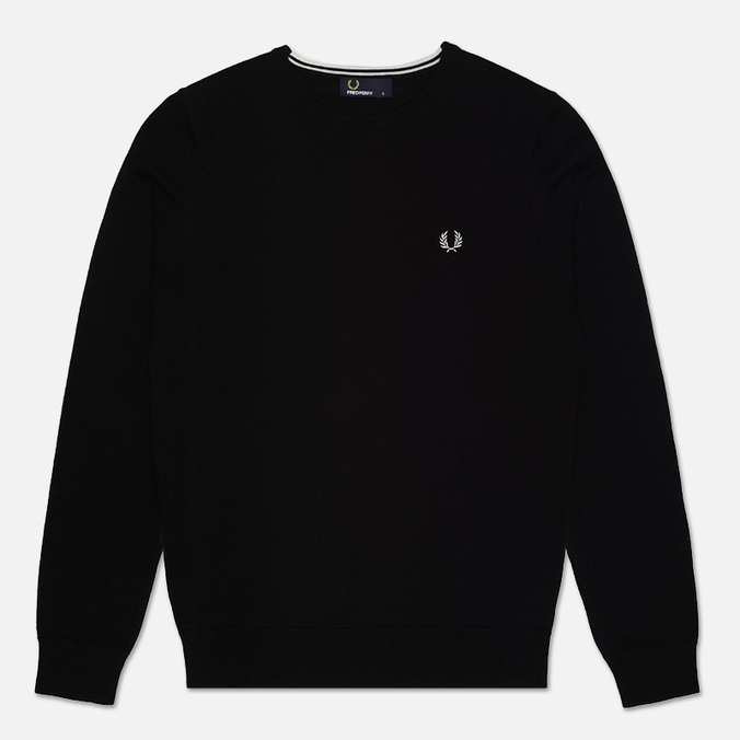 Мужской свитер Fred Perry Classic Tipped Crew Neck Black