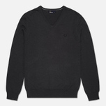 Мужской свитер Fred Perry Classic Tipped V Neck Graphite фото- 0