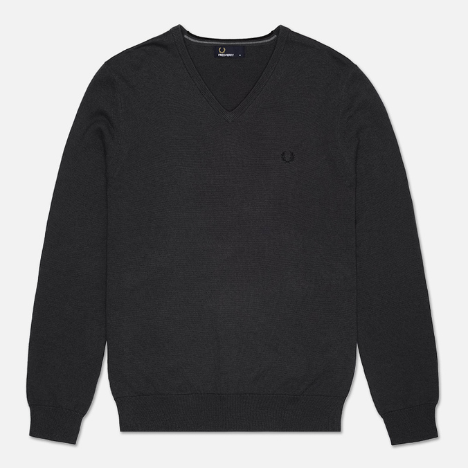 Мужской свитер Fred Perry Classic Tipped V Neck Graphite