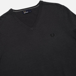 Мужской свитер Fred Perry Classic Tipped V Neck Graphite фото- 1