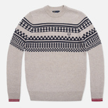 Мужской свитер Fred Perry Island Knit Moon Mist Marl фото- 0